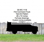 05-WC-1118 - Fire Command Truck Yard Art Woodworking Pattern