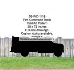 Fire Command Truck Yard Art Woodworking Pattern