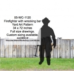 Firefighter with wrecking bar Silhouette Yard Art Woodworking Pattern