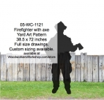 fee plans woodworking resource from WoodworkersWorkshop® Online Store - firefighters,axes,firefighting,yard art,painting wood crafts,scrollsawing patterns,drawings,plywood,plywoodworking plans,woodworkers projects,workshop blueprints