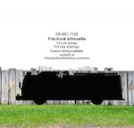 Fire Truck Silhouette Yard Art Woodworking Pattern
