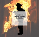 Firefighter Silhouette Yard Art Woodworking Pattern
