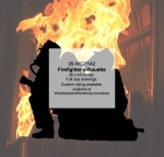 Firefighters Silhouette Yard Art Woodworking Pattern