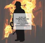 05-WC-1148 - Firefighter Silhouette Woodworking Pattern