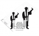 Male Graduate Shadow Yard Art Woodworking Pattern - 2 sizes included