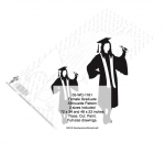 Female Graduate Shadow Yard Art Woodworking Pattern - 2 sizes included