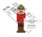 05-WC-1162 - RCMP Officer Man Timber People Woodworking Pattern