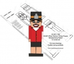 05-WC-1163 - RCMP Officer Woman Timber People Woodworking Pattern
