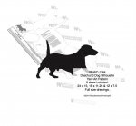 Dachshund Dog Silhouette Yard Art Woodworking Pattern