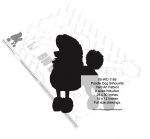 05-WC-1165 - Poodle Dog Silhouette Yard Art Woodworking Pattern - 2 sizes included