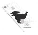 Poodle Dog Running Yard Art Woodworking Pattern - 2 sizes included
