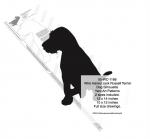 Wire Haired Jack Russell Terrier Dog Yard Art Pattern 2 sizes included