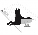 Great Dane Dog Silhouette Yard Art Woodworking Plans 3 sizes included
