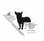 Chihuahua Dog Silhouette Yard Art Woodworking Plans 2 sizes included