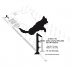 05-WC-1172 - Border Collie Jumping Silhouette Yard Art Woodworking Plan