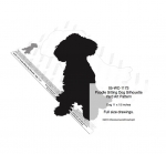 Poodle Sitting Dog Silhouette Yard Art Woodworking Plan, poodles,silhouettes,dogs,pets,animals,yard art,painting wood crafts,scrollsawing patterns,drawings,plywood,plywoodworking plans,woodworkers projects,workshop blueprints