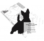 05-WC-1175 - Scottish Terrier Dog Silhouette Yard Art Woodworking Pattern