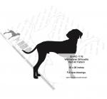 Weimaraner Dog Silhouette Yard Art Woodworking Pattern