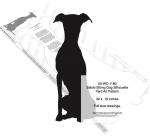 Saluki Sitting Dog Silhouette Yard Art Woodworking Pattern, Saluki,dogs,pets,animals,yard art,painting wood crafts,scrollsawing patterns,drawings,plywood,plywoodworking plans,woodworkers projects,workshop blueprints