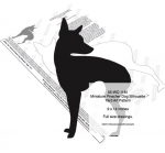 05-WC-1181 - Miniature Pinscher Dog Silhouette Yard Art Woodworking Pattern