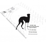 Greyhound Dog Silhouette Yard Art Woodworking Pattern, Greyhound dogs,pets,animals,yard art,painting wood crafts,scrollsawing patterns,drawings,plywood,plywoodworking plans,woodworkers projects,workshop blueprints
