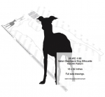 Italian Greyhound Dog Silhouette Yard Art Woodworking Pattern, Italian Greyhound dogs,pets,animals,yard art,painting wood crafts,scrollsawing patterns,drawings,plywood,plywoodworking plans,woodworkers projects,workshop blueprints
