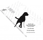 Boxer Dog Silhouette Yard Art Woodworking Pattern