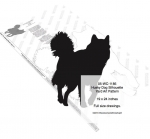 Husky Dog Silhouette Yard Art Woodworking Pattern