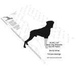 05-WC-1187 - Boxer Dog Silhouette Yard Art Woodworking Plan