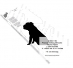 05-WC-1190 - American Bulldog Silhouette Yard Art Woodworking Plan