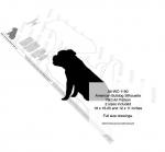 American Bulldog Silhouette Yard Art Woodworking Plan