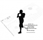 05-WC-1191 - Football Quarterback Silhouette Yard Art Woodworking Pattern
