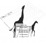 Giraffe Momma and Baby Yard Art Woodworking Patterns, giraffes,moms,baby,babies,yard art,painting wood crafts,scrollsawing patterns,drawings,plywood,plywoodworking plans,woodworkers projects,workshop blueprints