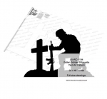 05-WC-1194 - Fallen Solider Yard Art Woodworking Pattern 32 x 48 inches