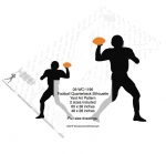 Football Quarterback Silhouette Yard Art Woodworking Pattern