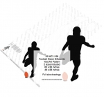 05-WC-1198 - Football Kicker Silhouette Yard Art Woodworking Pattern