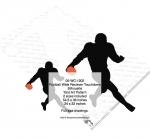 Football Wide Receiver Touchdown Silhouette Yard Art Woodworking Plan