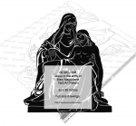 05-WC-1206 - Jesus in the arms of Mary Magdalene Yard Art Woodworking Pattern