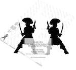 05-WC-1210 - Pirate Jack Scott the Dubloon Devil Silhouette Woodworking Pattern