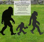Bigfoot Family of Sasquatch Yard Art Woodworking Pattern Set