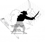 Pirate Errol Bonny-Baby Locke Silhouette Yard Art Woodworking Pattern
