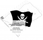 05-WC-1229 - Pirate Flag Skull and Cross Swords Yard Art Woodworking Pattern