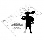 05-WC-1230 - Pirate Nelson Digger Horn Silhouette Yard Art Woodworking Pattern