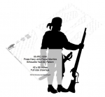 Pirate Davy Jolly-Roger Manhire Shadow Yard Art Woodworking Pattern