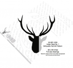 05-WC-1235 - Antler Rack No.1 Silhouette Woodworking Pattern