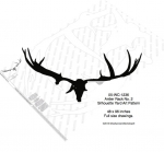 05-WC-1236 - Antler Rack No.2 Silhouette Woodworking Pattern