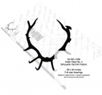 Antler Rack No.4 Silhouette Woodworking Pattern