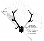 05-WC-1239 - Antler Rack No.5 Silhouette Woodworking Pattern