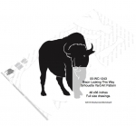 05-WC-1243 - Bison Looking This Way Silhouette Yard Art Woodworking Pattern