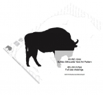 05-WC-1244 - Buffalo Silhouette Yard Art Woodworking Pattern